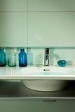 niebieska łazienki zdjęcie stock