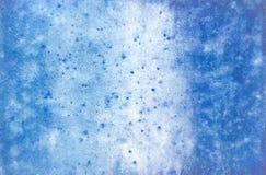 niebieska abstrakcyjne kolorowy papier tekstury akwarela t?o obrazy stock
