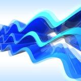 niebieska abstrakcyjnych fale Fotografia Royalty Free