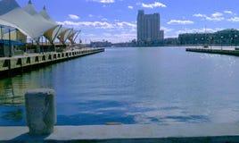 niebieska błyskotliwa wody Zdjęcie Royalty Free