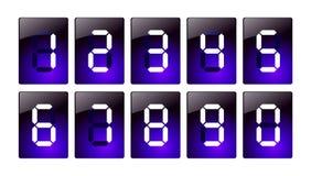 niebieska cyfrowa liczba ikony Fotografia Royalty Free