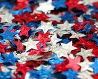 niebieska czerwone white star Obrazy Royalty Free