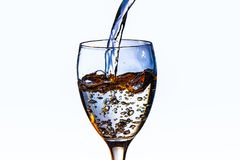 niebieska czystej wody fotografia stock