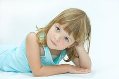 niebieska dziewczyna Obraz Stock
