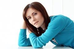 niebieska dziewczyna, piękna Zdjęcie Stock