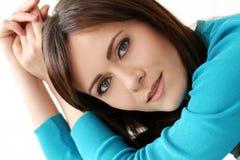 niebieska dziewczyna, piękna Fotografia Stock