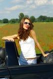 niebieska dziewczyna z nieba lato Obraz Stock