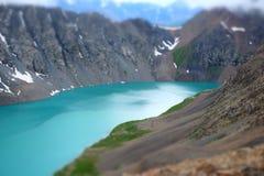 niebieska góra lake Zdjęcie Royalty Free