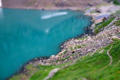 niebieska góra lake Obrazy Royalty Free
