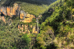 niebieska góry wodospadu Obrazy Stock