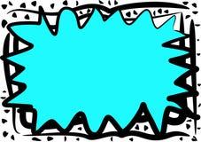 niebieska granica abstrakcyjna chaotyczna ilustracji