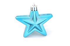 niebieska gwiazda świąteczne Fotografia Stock