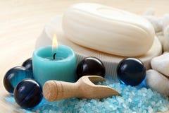 niebieska kąpielowy. Fotografia Royalty Free