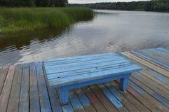 niebieska kanap Zdjęcia Stock