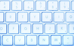 niebieska klawiatura obrazy stock