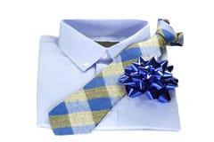 niebieska koszula krawat Zdjęcia Stock