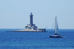 niebieska latarnia morska Obraz Royalty Free