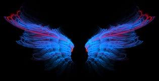 niebieska linia czerwieni skrzydła ilustracja wektor