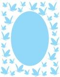 niebieska motyl rama Zdjęcie Stock