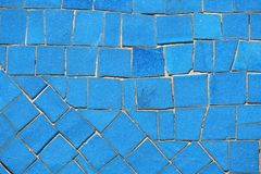 niebieska mozaika Zdjęcia Royalty Free
