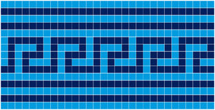 niebieska mozaika Obraz Royalty Free