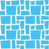 niebieska mozaika do łazienki deseniowy bezszwowy tekstury płytki rocznik wektor bezszwowy wzoru Zdjęcia Royalty Free
