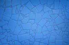 niebieska mozaiki płytka Obrazy Royalty Free