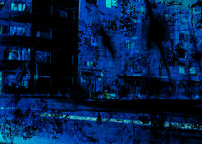 niebieska noc Obraz Royalty Free