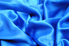 niebieska satyna Zdjęcia Stock