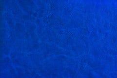 niebieska skórzana konsystencja Zdjęcie Stock