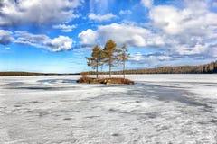 niebieska spowodowana pola pełne się chmura dzień zielonych roślin krajobrazu ruchu pokaz mały nie niebo było pszenicznym biały w Zdjęcie Royalty Free