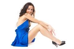 niebieska sukienka Obrazy Stock