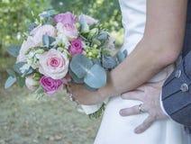 niebieska szczegółów kwiat podwiązka gotham jest zatruty ślub Obraz Royalty Free
