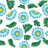 niebieska tła białe kwiaty Obraz Stock