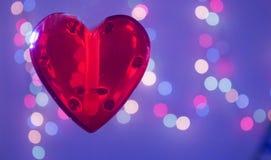 niebieska tła czerwony serca Zdjęcie Royalty Free