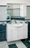 niebieska toaleta obraz royalty free
