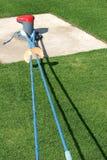 niebieska trawy zielone liny Obrazy Royalty Free
