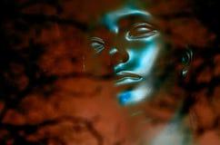 niebieska twarz Obrazy Royalty Free
