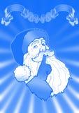 niebieska twarz Mikołaja royalty ilustracja