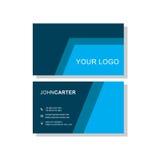 niebieska wizytówka Fotografia Stock