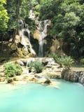 niebieska wodospadu Zdjęcia Stock