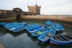 niebieski łodzi połowów Obraz Royalty Free