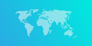niebieski światła mapy świata Obrazy Stock