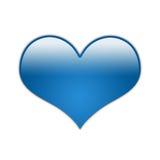 niebieski 01 serce Fotografia Stock