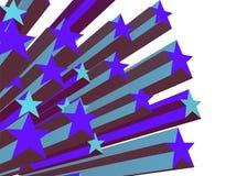 niebieski 1 starburst Zdjęcia Stock