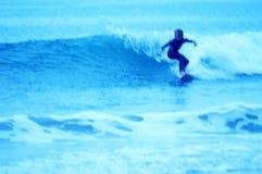 niebieski 1 surfer Obrazy Royalty Free