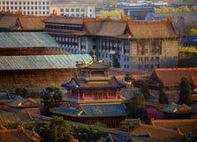 niebieski beijing chiny zakazane miasto piwonii Zdjęcie Stock