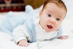 niebieski berbecie dziecka Zdjęcia Stock