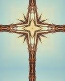 niebieski bluestem krzyż obrazy royalty free