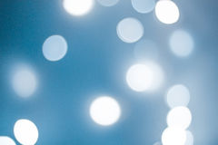 niebieski bokeh Obraz Stock